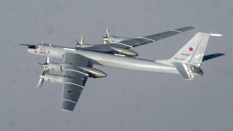 In April last year RAF jets were scrambled twice in five days to stop Russian military planes entering UK airspace