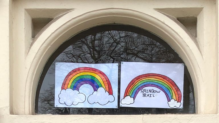Cllr Adam Clarke, deputy city mayor for Leicester, has displayed two rainbows in his window.
