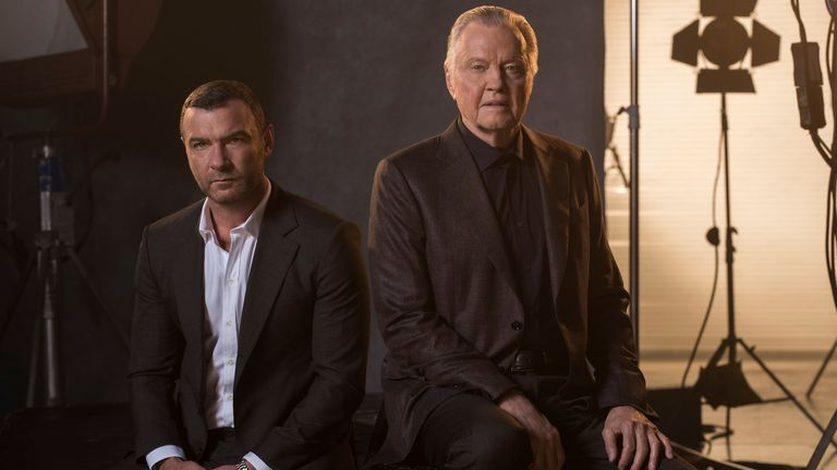 Liev Schreiber as Ray Donovan and Jon Voight as Mickey Donovan in Ray Donovan. Photo: © 2017 Showtime