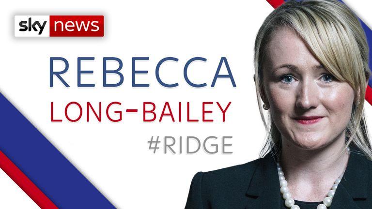 Shadow Business Secretary Rebecca Long-Bailey MP