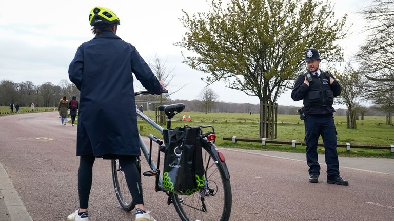 Cyclists have been turned away from Richmond Park during the coronavirus outbreak