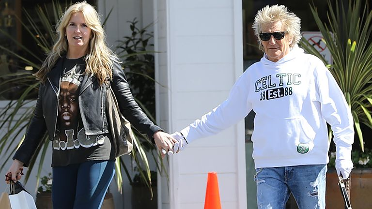 Rod Stewart out and about, Los Angeles, USA - 15 Mar 2020 Penny Lancaster and Rod Stewart 15 Mar 2020