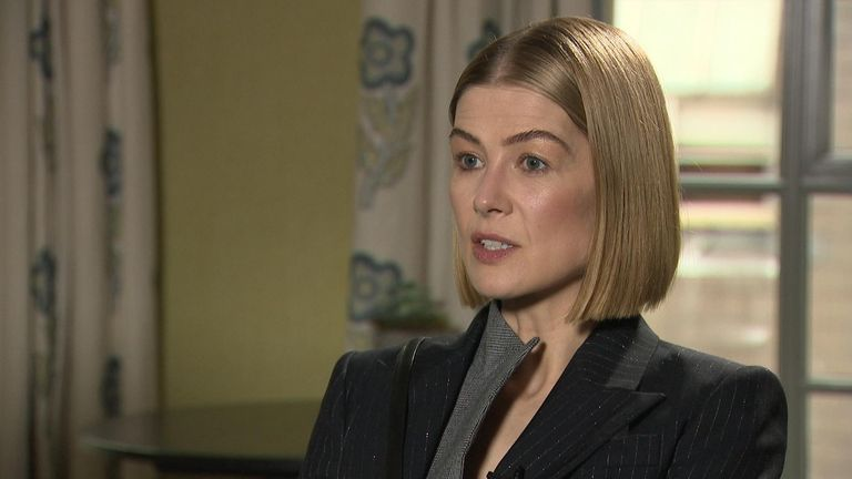 Rosamund Pike says women need to 'speak up and speak the truth to power'