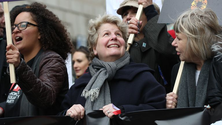 Sandi Toksvig said she believed climate change was a 'gendered thing'