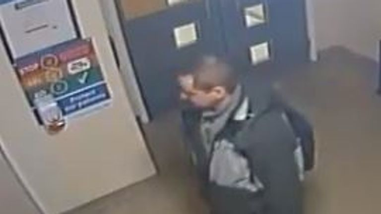 A man accused of stealing hand sanitiser from a hospital. Pic: @NGHnhstrust