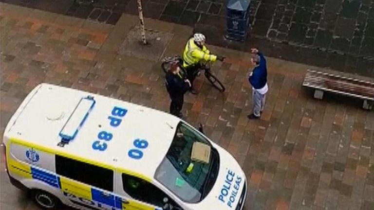 Scotland police confronts man claiming to have COVID-19