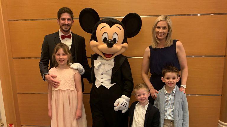 Paul Slapa, wife Carran, Eva, 9, Ethan 6, and Finn 4