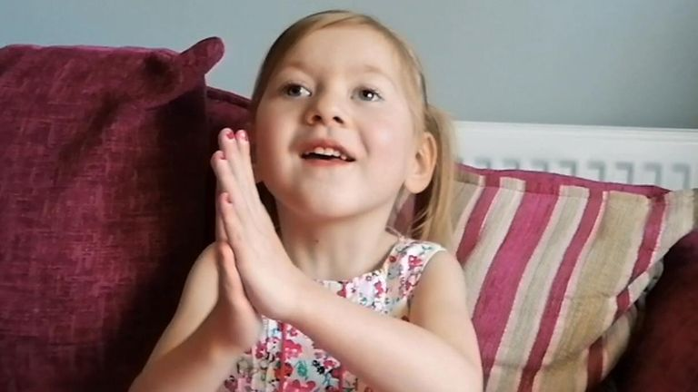 Four-year-old Sophia Marshallhas 11 heart conditions
