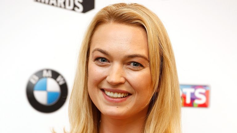 LONDON, ENGLAND - JUNE 07: Sophia Myles in the press room at the South Bank Sky Arts Awards at The Savoy Hotel on June 7, 2015 in London, England. (Photo by John Phillips/Getty Images)