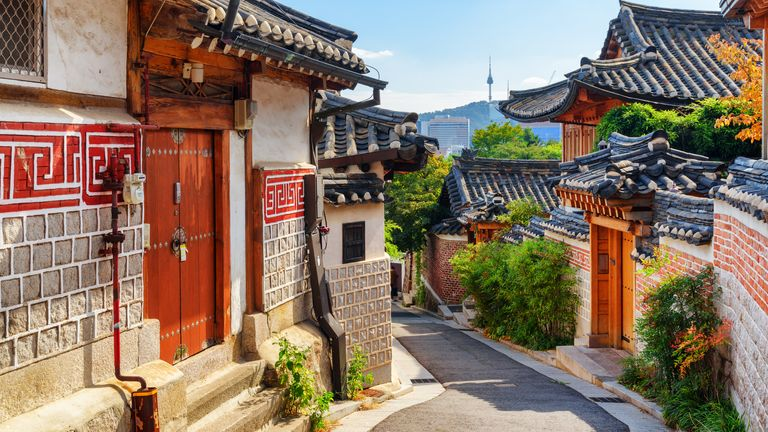 The back streets of Seoul