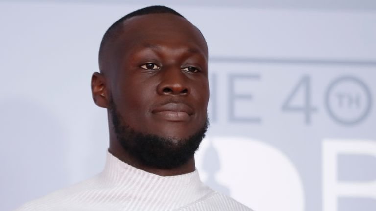 Stormzy at the Brit Awards 2020