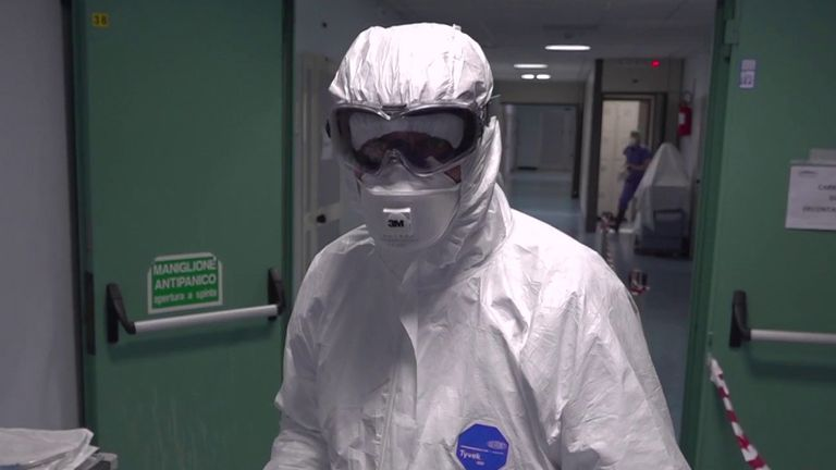 Stuart Ramsay reports from a hospital in Naples