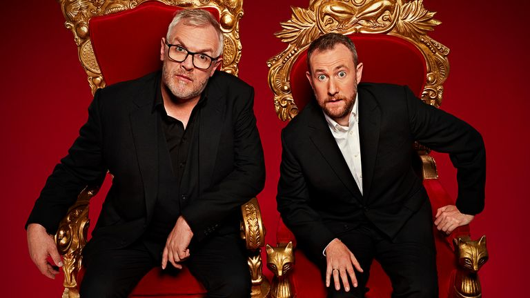 Taskmaster - Series 9.Picture shows: Taskmaster Greg Davies and Alex Horne