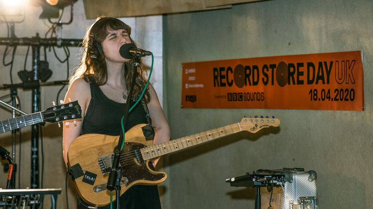 The Big Moon's Soph Nathan at the Record Store Day launch. Pic Tom Rowland