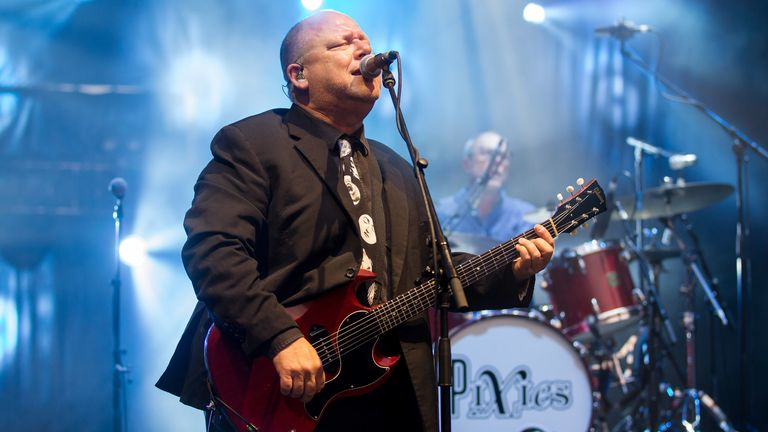 The Pixies perform at Shoreline Amphitheatre on August 7, 2018 in Mountain View, California