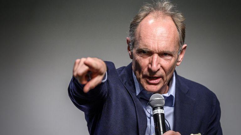 World Wide Web inventor Tim Berners-Lee (file pic)