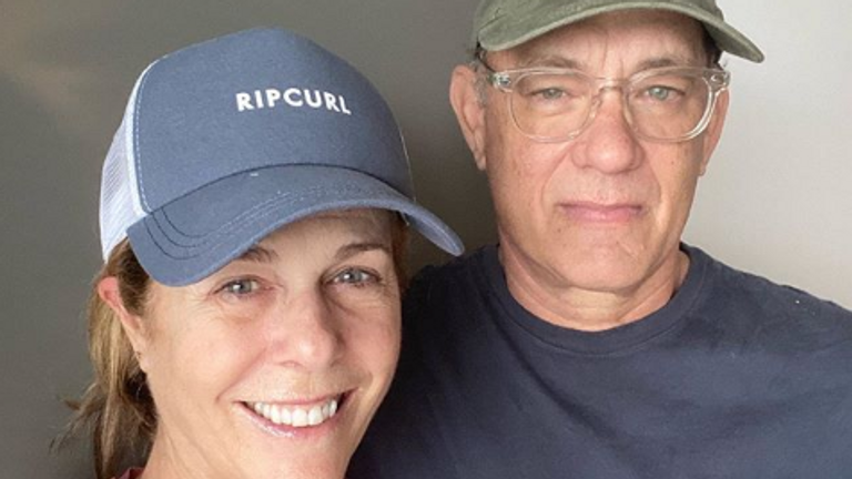 Tom Hanks and Rita Wilson are in quarantine. Pic: Tom Hanks