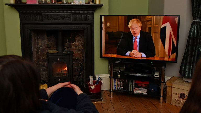 Boris Johnson's TV address informing the nation of new draconian measures