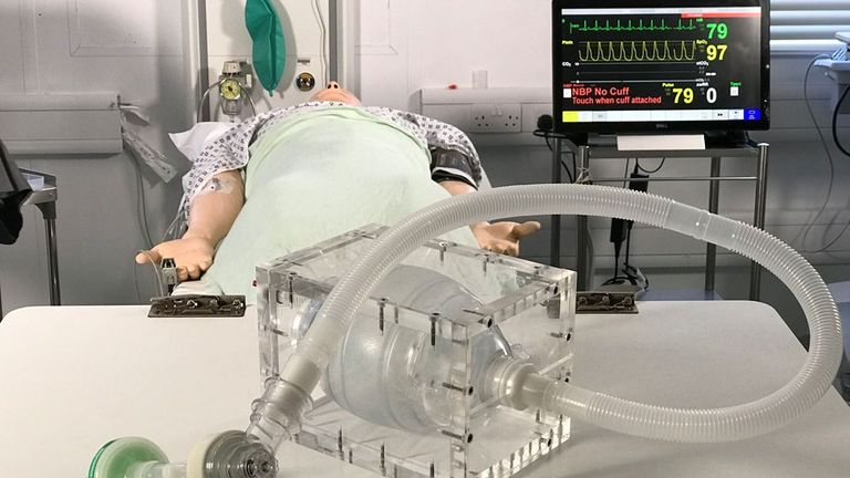 London doctors and engineers have unveiled a prototype ventilator that's simple enough to mass-produce in a fortnight, soon enough for the expected surge in coronavirus patients.