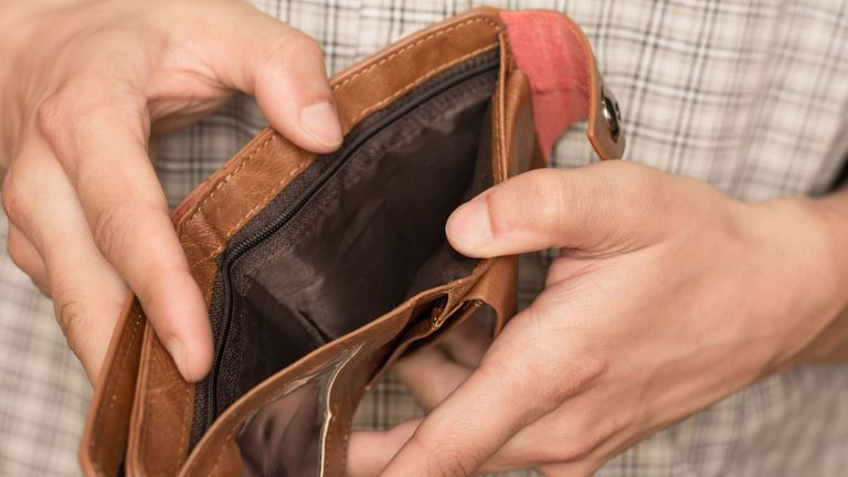 Empty wallet - stock pic