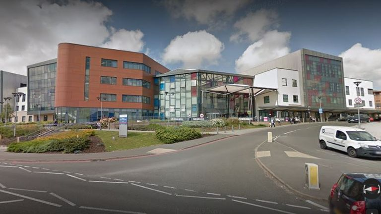 Walsall Manor Hospital in the Walsall, West Midlands. Pic: Google street view