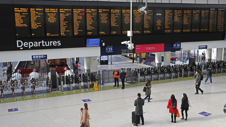 Demand for rail services has fallen by up to 69% on some routes
