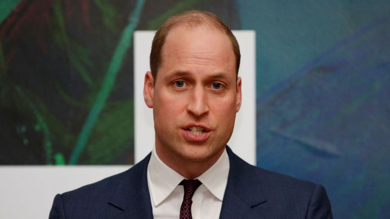 The Duke of Cambridge speaks during a reception hosted by Tanaiste, Simon Coveney, in central Dublin, as part of their three day visit to the Republic of Ireland. PA Photo. Picture date: Wednesday March 4, 2020. See PA story ROYAL Cambridge. Photo credit should read: Phil Noble/PA Wire