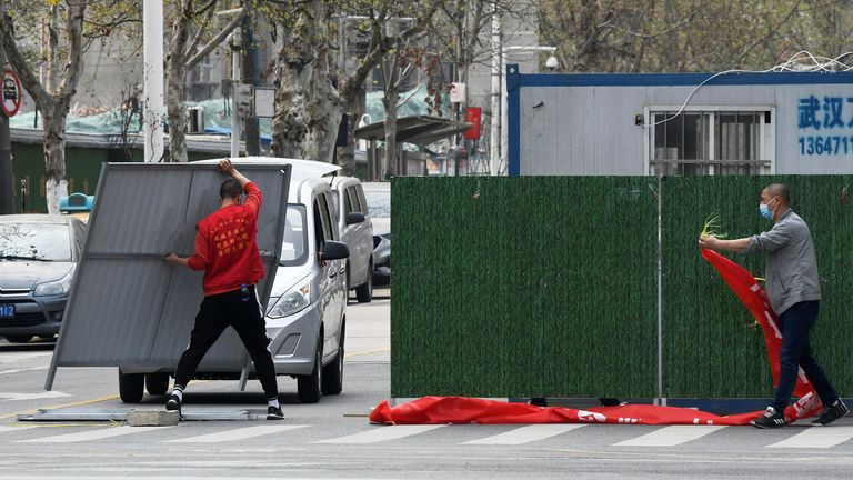 Barriers on Wuhan's streets  have been gradually removed over the weekend