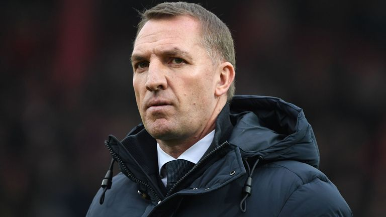 Leicester City's Northern Irish manager Brendan Rodgers
