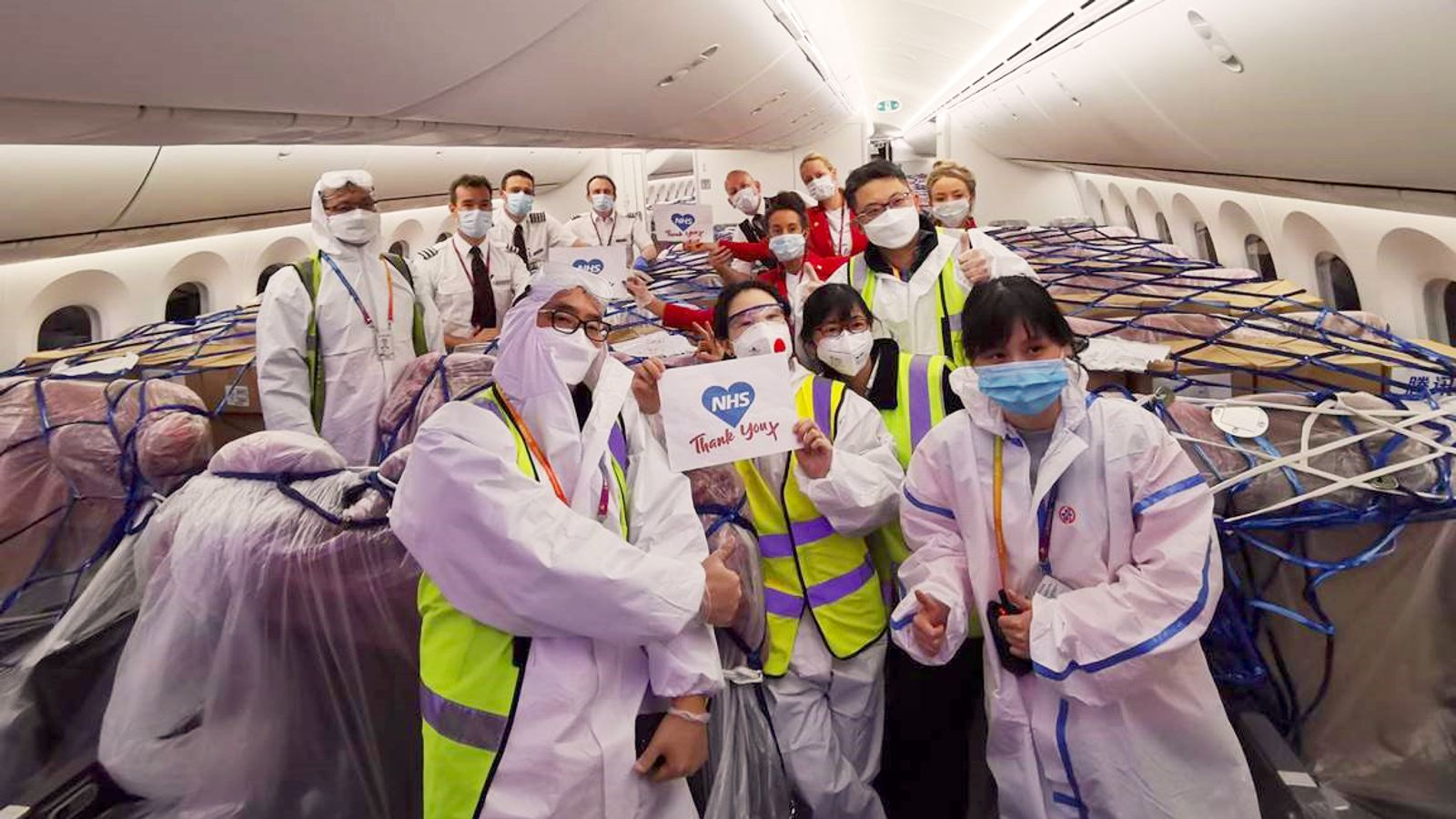 Coronavirus: Virgin flies in millions of pieces of medical equipment from China
