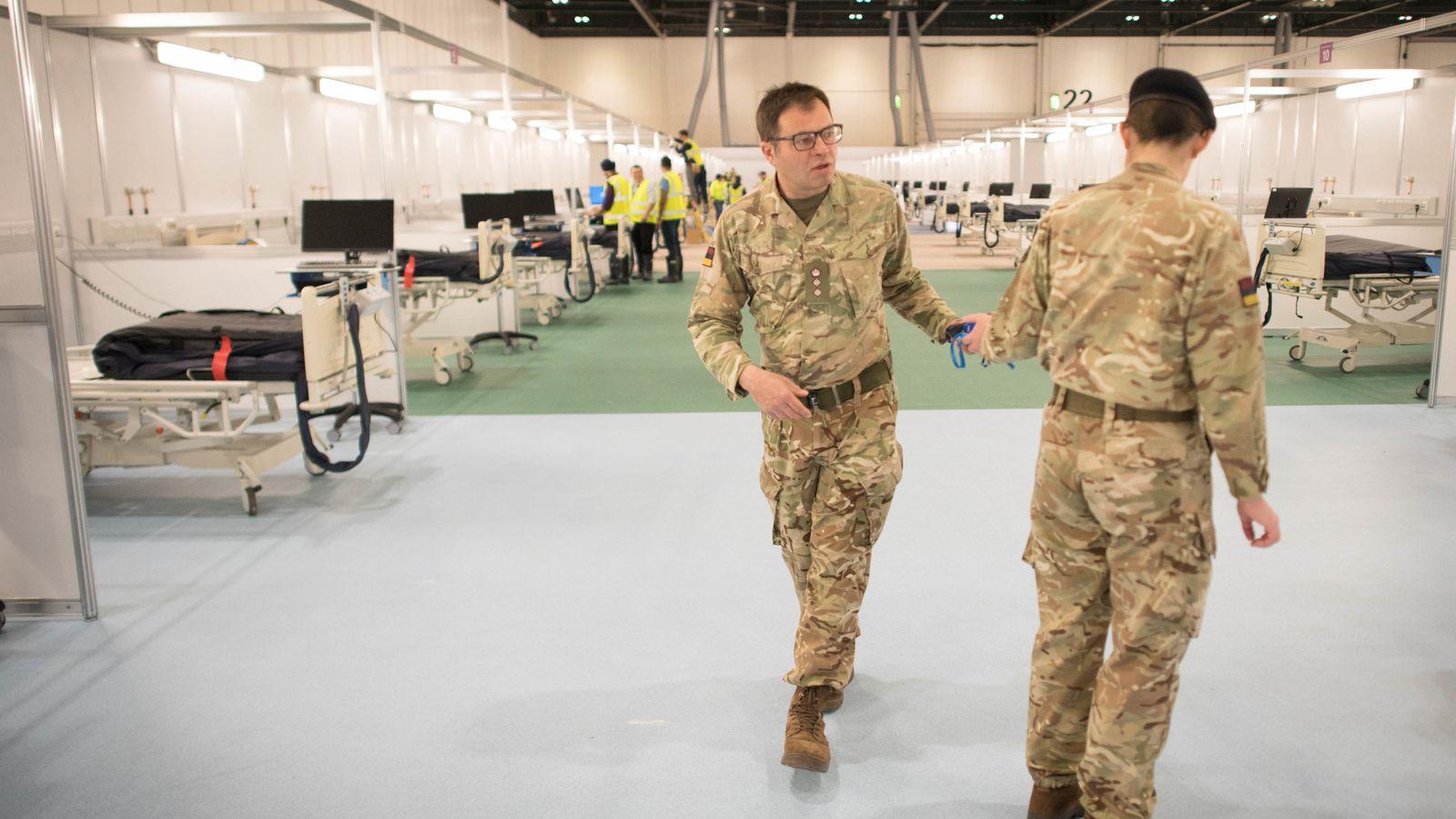 Coronavirus: Military chief helping build London's Nightingale hospital on mission to save lives