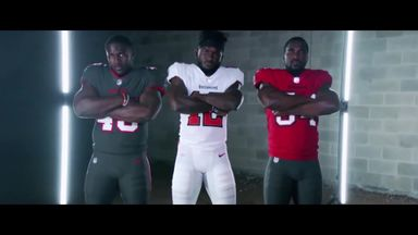 Buccaneers unveil new uniforms