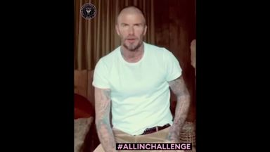 Beckham launches challenge for coronavirus relief