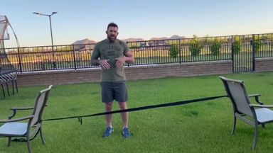 Ryan Bader's intense home workout!