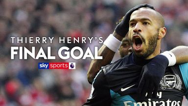 Henry's last ever PL goal for Arsenal