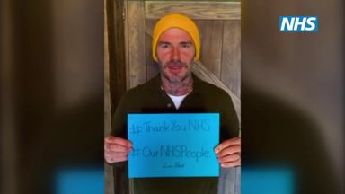 Beckham, AJ, Jose and more thank NHS workers