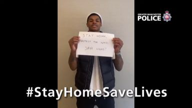 Manchester sports stars' 'Stay Home' message