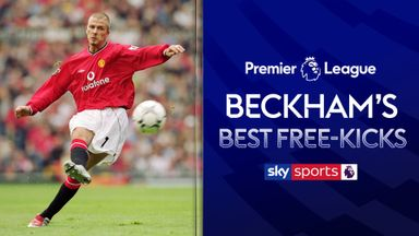 David Beckham's best PL free-kicks