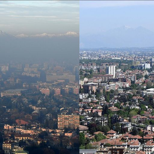 Before and after - How lockdown has changed smog-filled skylines
