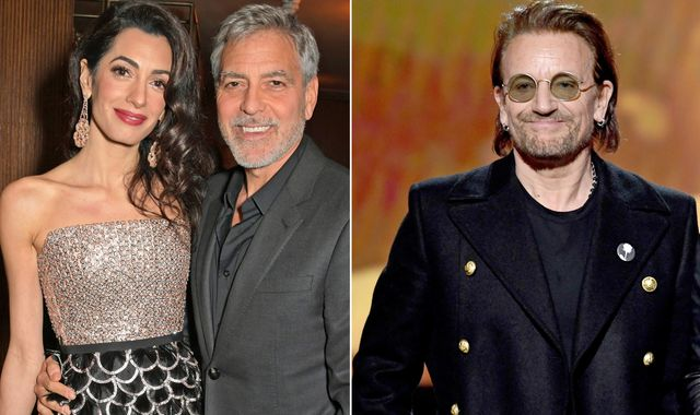 Coronavirus: The Clooneys and U2 join celebrities donating millions to fight COVID-19 pandemic