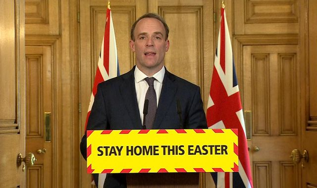 Coronavirus: Dominic Raab says UK 'must keep going' with lockdown measures