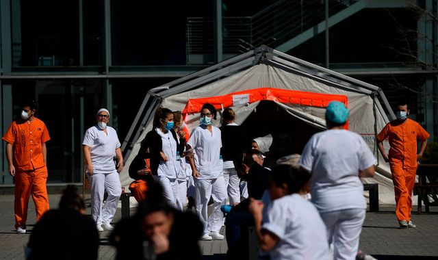 Coronavirus: Doctors at Spain's largest hospital 'winning COVID-battle little by little'