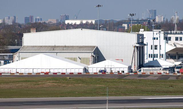 Coronavirus: Temporary mortuary at Birmingham Airport almost finished