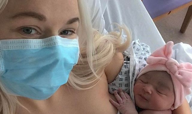 Coronavirus: Mother who gave birth alone praises NHS for 'positive experience'