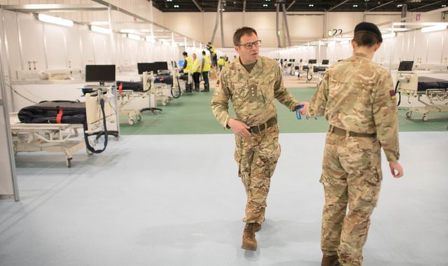 Coronavirus: Military chief helping build London's Nightingale hospital on mission to save lives