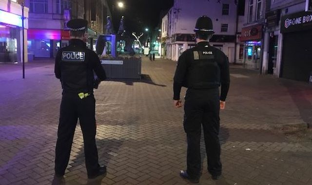 Coronavirus: Police patrol 'ghost town' as shops fear lockdown break-ins
