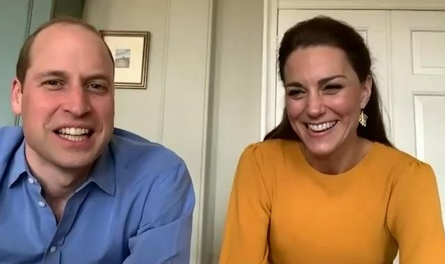 Duke and Duchess of Cambridge surprise pupils with virtual school visit
