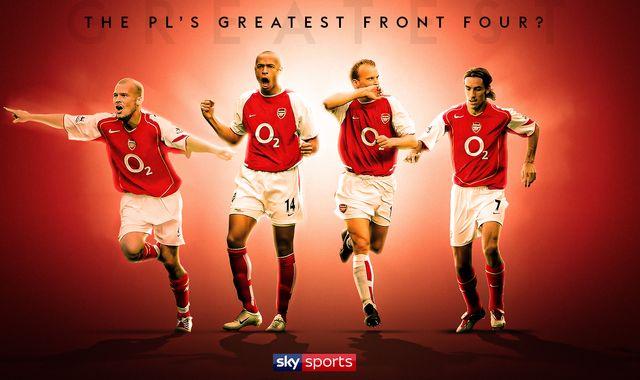 Thierry Henry, Dennis Bergkamp, Freddie Ljungberg, Robert Pires: Premier League's best front four?