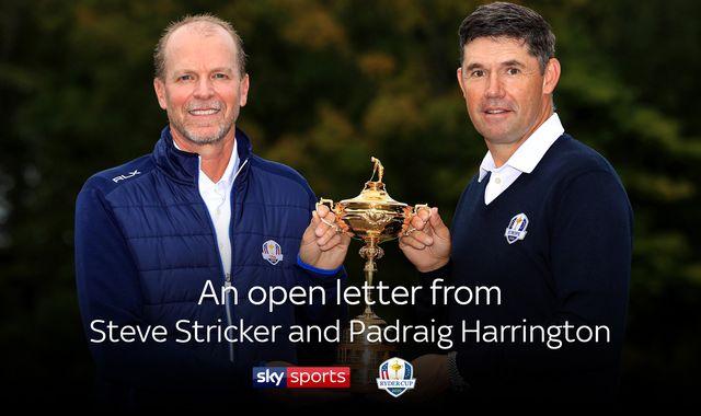 Ryder Cup captains Padraig Harrington & Steve Stricker united in fight against coronavirus