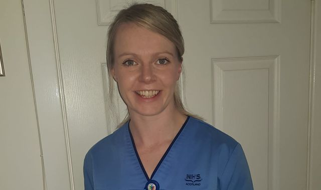 Coronavirus: Curler Vicky Wright returns to NHS frontline to help battle pandemic